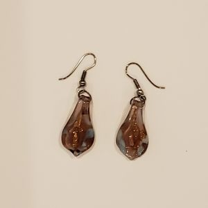 Make a statement with hand crafted glass earrings
